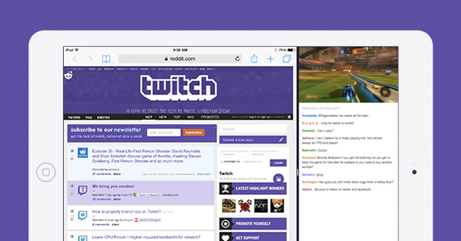 Twitch Rolls Out iOS 9 Multitasking Support – Streamer News